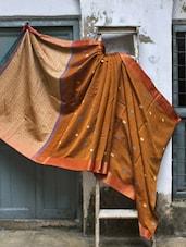 Brown Resham Silk Saree - Cotton Koleksi