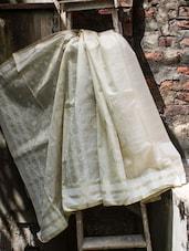 White Cotton Saree - Cotton Koleksi
