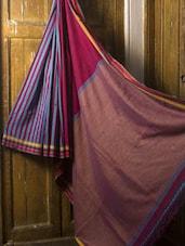 Striped Cotton Saree - Cotton Koleksi