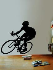 Cyclist Decal Wall Art ( Black ) - DeStudio