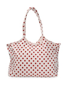 White And Red Polka-Dot Tote Bag - Art Forte