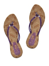 Purple Double Strap Flats - Yepme