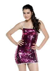 Pink Sequined Backless Dress - N-Gal