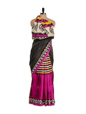 Booti Print Bhagalpuri Art Silk Saree - Purple Oyster