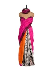 Pink Art Silk Printed Saree - Purple Oyster