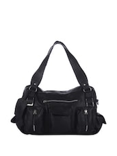 Bold Black Tote With Multiple Pockets - Eavan