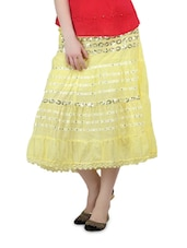 Light Yellow Three-Quarter Skirt - Lalana