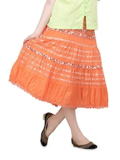 Orange Three-Quarter Skirt - Lalana
