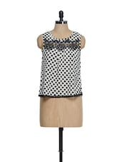 Elegant Black And White Polka Dotted - Oranje