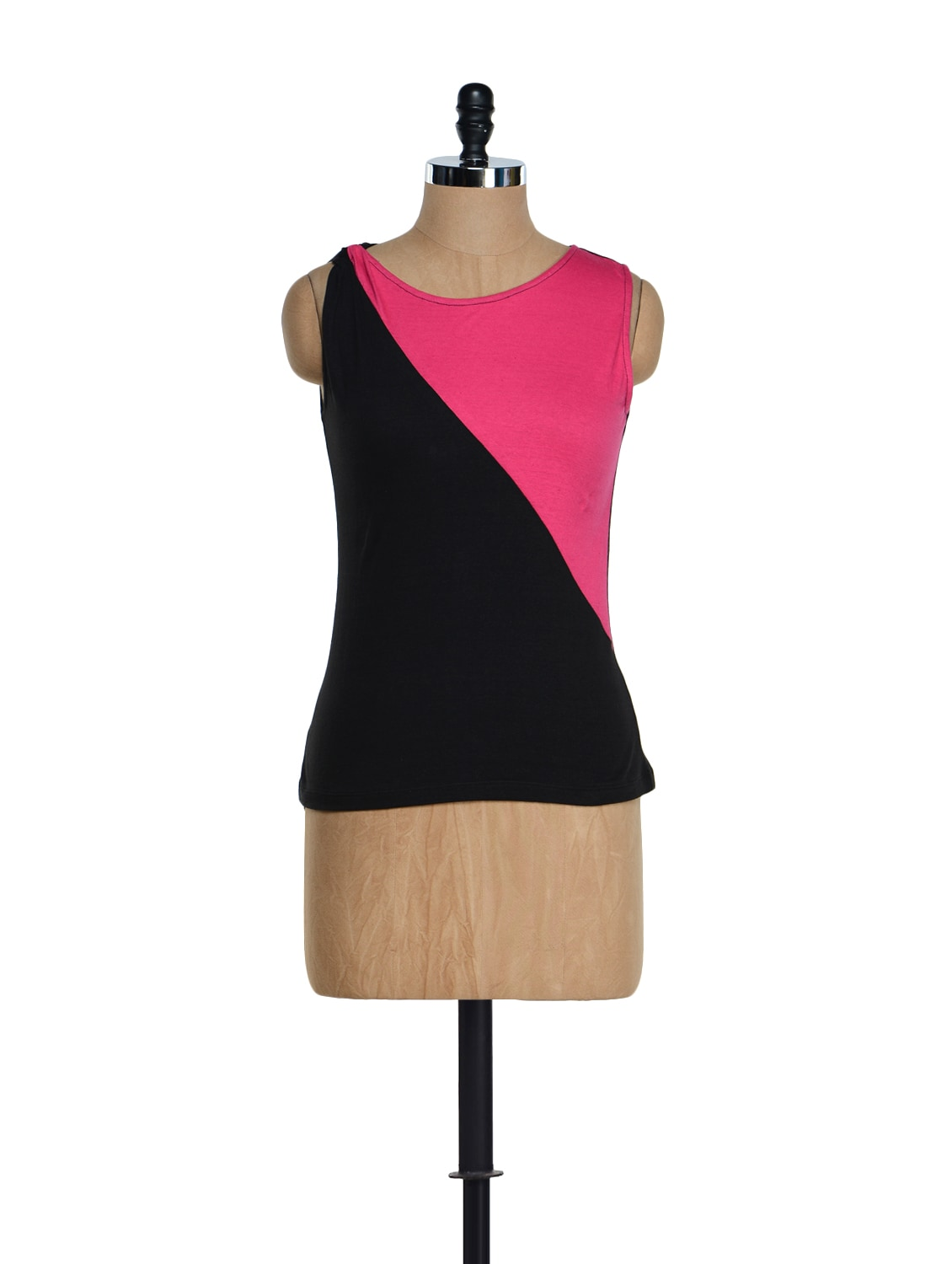 Black And Pink Jersey Top - Citrine