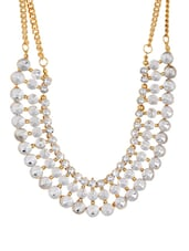 Triple Chain Studded Neckpiece - THE PARI