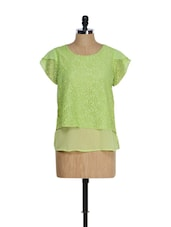 Bright Green Lace Top - QUEST