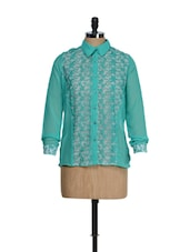 Floral Embroidered Georgette Shirt - QUEST