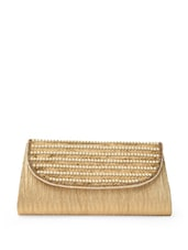 Gold And Creamy White Clutch - AARNACRAFT