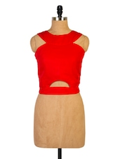 Sultry Red Crop Top - Miss Chase
