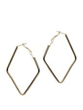 Gold And Silver Plated Diamond Shaped Earrings - ESmartdeals
