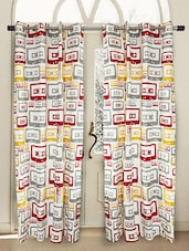 Cassette Print Door Curtain (Set Of 2) - HOUSE THIS