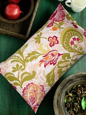 Floral Kalamkari Pillow Cover (Set Of 2) - HOUSE THIS