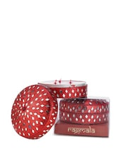 Beaded Red Dipaka Scented Candle - Fragrance World India