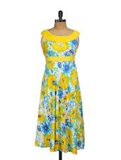 Printed Long Dress - Shakumbhari