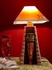 Egyptian Pyramid Terracotta Table Lamp - Bdesi