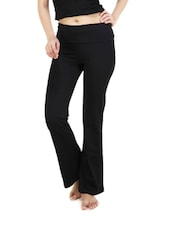 Black cotton yoga pants -  online shopping for Track pants