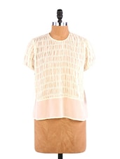 Ivory Top With Buttoned Down Back - Aaliya Woman