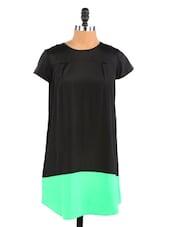 Black Dress With Back Zipper - Aaliya Woman