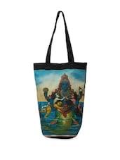 Traditional Lord Krishna Print Tote Bag - The House Of Tara