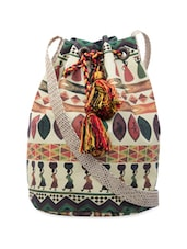 Multi-coloured Tribal Print Cross Body Bag - The House Of Tara