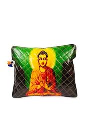 Multi-coloured Soothing Buddha Print Laptop Sleeve Bag - The House Of Tara