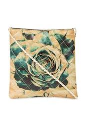 Green Rose Digital Print Cross Body Bag - The House Of Tara