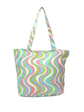Multi-coloured Swirl Print Tote - Art Forte