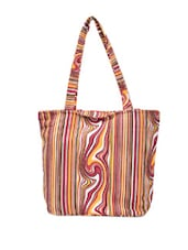 Multi-coloured Organic Print Stylish Tote - Art Forte
