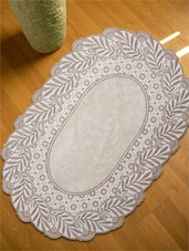 Floral Textured Table Mat (Oval)- Set Of 6 - Freelance