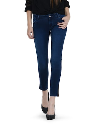 Dark Indigo Blue Capri