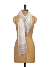 Hand Woven Transparent And Delicate Silk Scarf With Crushed Feel - WELKIN - 864255