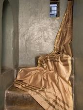 Stunning Golden Resham Cotton Saree - Cotton Koleksi