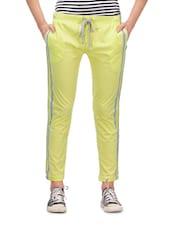 Lime Yellow Women's Track Pants - Yepme