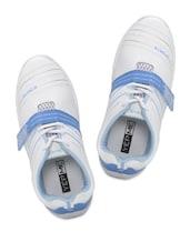 White & Blue Sports Shoes - Yepme