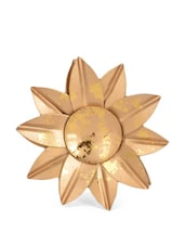 Gold Flower Shaped Tea Light Candle Holder - Ambbi Collections