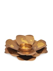 Gold Layered Metal Tea Light Candle Holder - Ambbi Collections