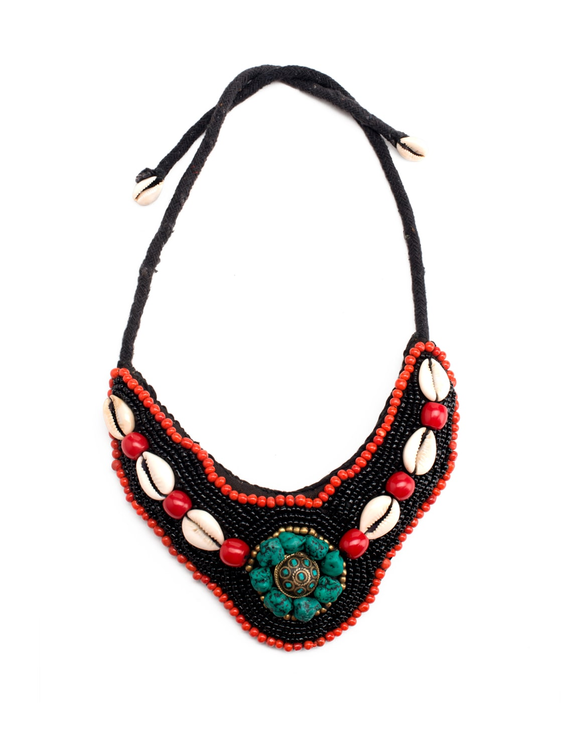 Buy Multi Coloured Coral Beads Necklace by Art Mannia - Online ...