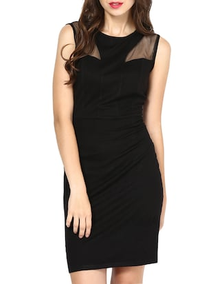 Besiva black mesh dress