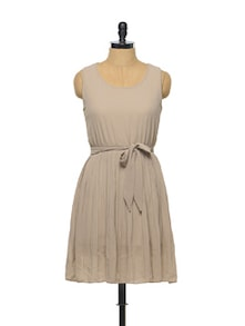 Beige Skater Dress - Sanchey