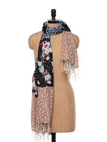 Multi Print Cotton Scarf - Red Lorry