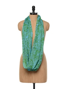 Zebra Stripes Green And Blue Scarf - Red Lorry
