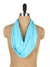 Chic Turquoise Cotton Scarf - J STYLE