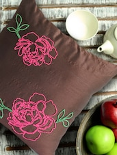 Brown Floral Cushion Cover - Per Inch - 88411