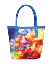 Multi-coloured Fish Print Unique Tote Bag - Jajv